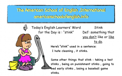 ELL LEARNERS WORD FOR THE DAY IS: STINKS
